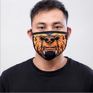Orange Roku Fashion Face Mask